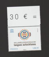 FRANCE / 2019 / Y&T SERVICE N° 176 ** : UNESCO (Année Internationale Des Langues Autochtones) X 1 BdF Haut - Neufs