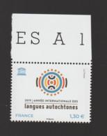 FRANCE / 2019 / Y&T SERVICE N° 176 ** : UNESCO (Année Internationale Des Langues Autochtones) X 1 BdF Haut - Nuevos