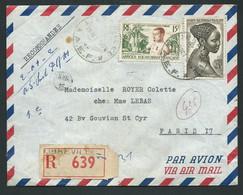 Lsc Lettre Recommandée Libreville Affranchie Par AEF YVERT N°226 Et 230 Obl 29/10/1956 -  Lm20801 - Covers & Documents