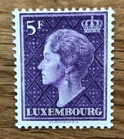 LUXEMBOURG 1958 - Mi 589 NEUF MNH POSTFRISCH - DUCHESSE CHARLOTTE - 5 F - CV 12 EUR - LUXE - Unused Stamps