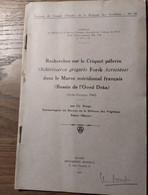 Recherches Sur Le Criquet Pèlerin (Schistocerca _Travaux Du Comité D'Études De La Biologie Des Acridiens_N°30_1943 - Unclassified