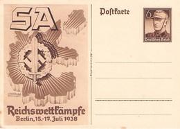 DEUTSCHES REICH - POSTKARTE 6PF REICHSWETTKÄMPFE 1938  /ak807 - Entiers Postaux