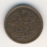 NEDERLAND 1917: 1/2 Cent, KM 138 - 0.5 Cent