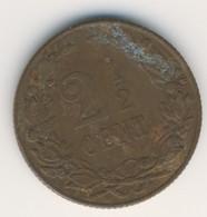 NEDERLAND 1905: 2 1/2 Cent, KM 134 - 2.5 Cent