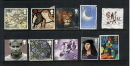 (15-10-2020) UK - Grande Bretagne Stamps / Timbres (selection Of 10 Commercially Used Stamps) With 1 Alderney & 1 France - 1952-.... (Elizabeth II)