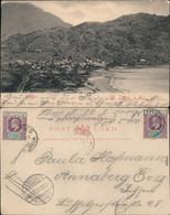 Soufrière (St. Lucia)  Blick Auf Die Stadt Commonwealth  Karibik Vintage G1903 - Unclassified