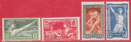 France N°183 à/to 186 Jeux Olympiques De Paris 1924 * - Unused Stamps