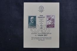 FRANCE - Souvenir Philatélique De Paris - Charcot / Eclaireurs De France , En 1938 Avec Vignette  - L 73408 - Blokken & Postzegelboekjes
