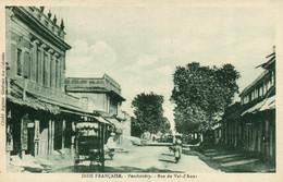 PC CPA INDIA, PONDICHÉRY, RUE DU VAL D'AOUR, Vintage Postcard (b21854) - India