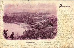 PC CPA SURINAME BERGENDAAL, Vintage Postcard (B410) - Suriname