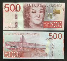 SWEDEN 500 KRONOR BANKNOTE 2016 UNC P-73 - Sweden