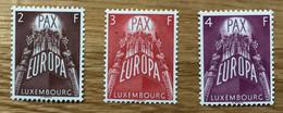 LUXEMBOURG 1957 Mi 572 / 574 - YT 531 / 533 NEUF MNH POSTFRISCH -  EUROPA - CV 200 EUR - LUXE - Ongebruikt