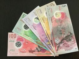 MALDIVES SET 5 10 20 50 100 RUFIYAA BANKNOTES 2015-2017 UNC POLYMER - Maldiven