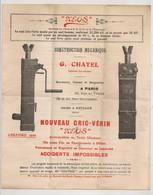 G CHATEL PARIS / USINE A PUTEAUX CRICC VERIN CONSTRUCTION MECANIQUE    C1332 - France