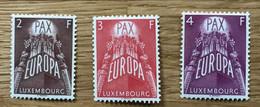 LUXEMBOURG 1957 Mi 572 / 574 - YT 531 / 533 NEUF MNH POSTFRISCH -  EUROPA - CV 200 EUR - Ongebruikt