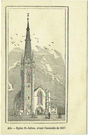 Ath. Eglise St.Julien, Avant L'Incendie De 1817. - Ath