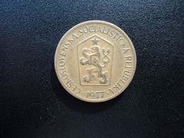 TCHÉCOSLOVAQUIE : 1 KORUNA   1977    KM 50      TTB - Czechoslovakia