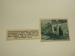 """Origineel Knipsel ( 7928 ) Uit Tijdschrift """" De Stad """" 1935 :   Brand  Heule - Zonder Classificatie"""
