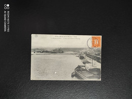A 3335 - Visé Bords De La Meuse Port Le Quai Vers La Gare Et Le Barrage Péniche - Visé