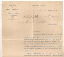 1913   PREFECTURE DE CONSTANTINE  AFFAIRES INDIGENES  / NOMINATION JEMMAPES ALGERIE  C1341 - Documenti Storici