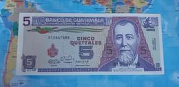 GUATEMALA 5 QUETZALES 1990 P74a UNC - Guatemala
