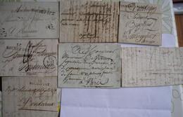 FRANCE - 7 Marques De Charente Maritime De Différents Bureaux Rochefort, St Jean, Saintes Dont 2 En Port Payé - 1801-1848: Vorläufer XIX