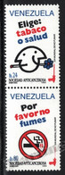 Venezuela 1993 Yvert 1642-43, Health. World No Tobacco Day - Vertical Pair - MNH - Venezuela