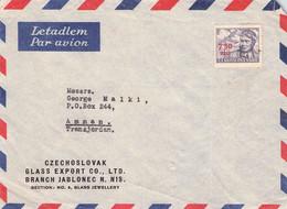 CZECHOSLOVAKIA - AIRMAIL 1949 JABLONEC - AMMAN/TRANSJORDAN /T182 - Briefe U. Dokumente