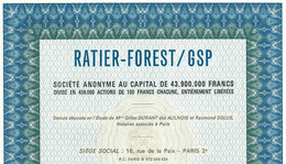 Aviation: RATIER-FOREST / GSP S. A. - Aviazione