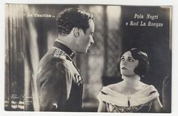 "Movie Stars Pola Negri & Rod La Roque In ""La Czarina"" Old Italian Postcard IJ201001 - Actors"
