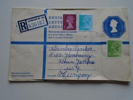 ZA331.11  UK  Uprated Postal Stationery  Registered Cover -  LONDON W  To Hungary  Jászberény - 1952-.... (Elisabetta II)