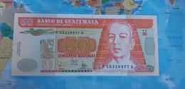 GUATEMALA 50 QUETZALES 2001 P105 UNC - Guatemala