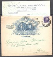 Italia Regno Busta Pubblicitaria Bar Caffè Pedrocchi Padova VF/F - Publicity