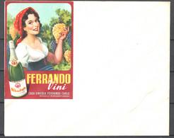 Italia Regno Busta Pubblicitaria Vini Ferrando Vercelli VF/F - Publicity