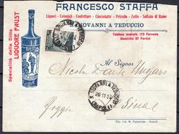 Italia Regno Busta Pubblicitaria Liquori E Confetture Staffa S.Giovanni A Teduccio VF/F - Publicity