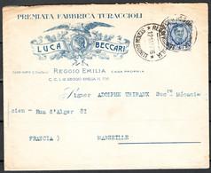 Italia Regno Busta Pubblicitaria Lav.Turaccioli Beccari Reggio Emilia VF/F - Publicity