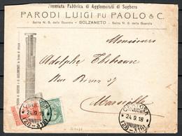 Italia Regno Busta Pubblicitaria Lav.Sughero Parodi Bolzaneto VF/F - Publicity