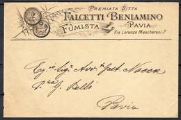 Italia Regno Busta Pubblicitaria Fumista Falcetti Pavia VF/F - Publicity