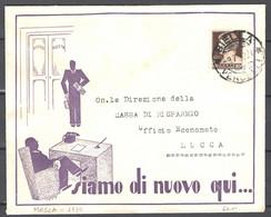 Italia Regno Busta Pubblicitaria Disegnatore MOSCA 1930 VF/F - Publicity