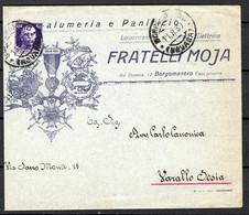 Italia Regno Busta Pubblicitaria Salumeria Moja Borgomanero VF/F - Publicity