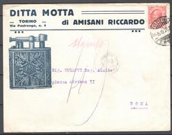 Italia Regno Busta Pubblicitaria Ditta Motta Torino VF/F - Publicity