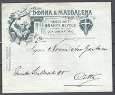 Italia Regno Busta Pubblicitaria Marmi E Graniti Donna & Maddalena Borgo Calvenzano VF/F - Publicity