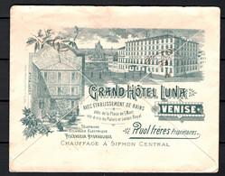 Italia Regno Busta Pubblicitaria Grand Hotel Luna Venezia VF/F - Publicity
