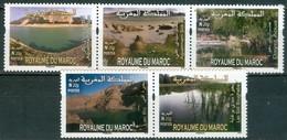 MOROCCO MAROC MAROKKO SÉRIE DE 5 TIMBRES LACS RARE N 20 G 2015 - Marokko (1956-...)