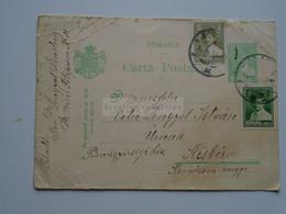 ZA331.22  ROMANIA   Uprated  Postal Stationery  1929 Arad -    Sent To Hungary   Kisbér -marosfelei Vitéz Lengyel István - 1918-1948 Ferdinand, Charles II & Michael