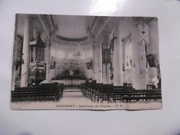 D 02 - Joncourt - Intérieur De L'église ( Carte Abimée) - Sonstige Gemeinden