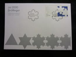 Sweden FDC 2000 Snöflingor - Jul 2000 (FDC 8) - FDC