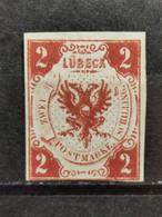 Altedeutschland Lübeck Mi-Nr. 3 MH Ungebraucht - Luebeck