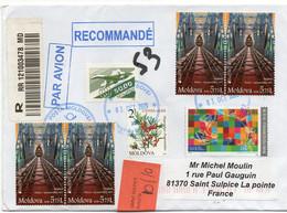 Lettre Recommandé De Moldavie Avec 4 Timbres Pont Construit Par Gustave Eiffel +   Timbre Argousier Et Timbre Concorde - Moldawien (Moldau)