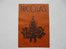 VIEUX PAPIERS - PUBLICITE : ETS NICOLAS - Reclame